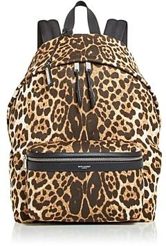 Saint Laurent City Bag Leopard Print Backpack