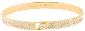 Alessa Yellow Gold and Diamond Spectrum Full Pave Bangle