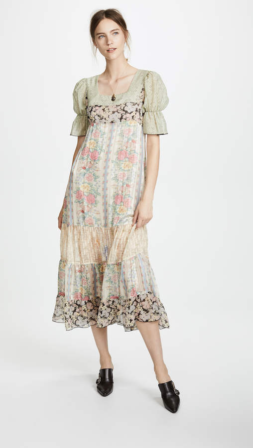 Anna Sui Whisper Rose Maxi