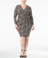 Anne Klein Plus Size Printed Wrap Dress