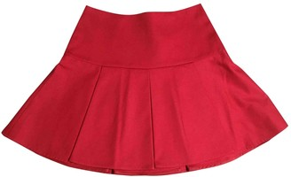 Valentino Red Red Cotton Skirt for Women