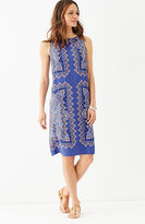 J. Jill Paisley Boat-Neck Dress