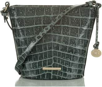 Brahmin Mini Quinn Croc Embossed Leather Bucket Bag
