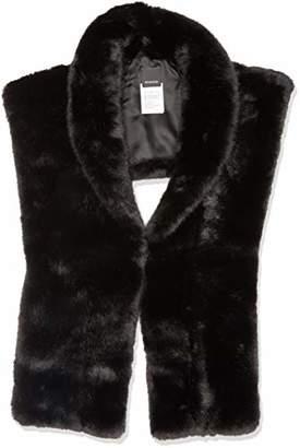 Pinko Women's URSINO COLLO Imitation Fur Scarf, Hat & Glove Set, (Nero Limousine Z99), One (Size: U)