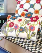 Mackenzie Childs MacKenzie-Childs Short Tic-Tac-Posie Lumbar Pillow