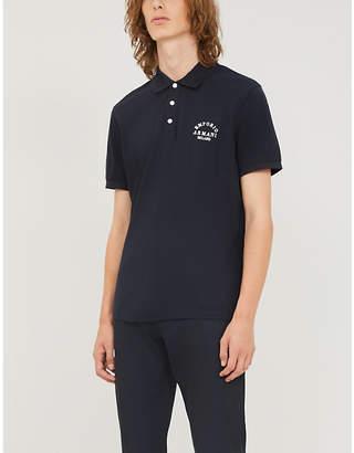 Emporio Armani Logo-print stretch cotton-pique polo shirt