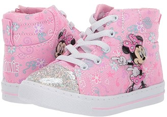 Josmo Kids Minnie High Top Sneaker (Toddler/Little Kid) (Pink) Girl's Shoes