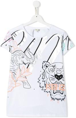 Kenzo TEEN animal print T-shirt