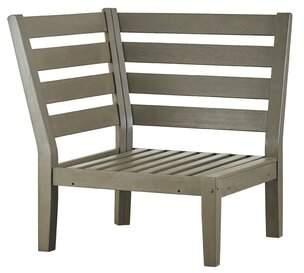 Three Posts Hursey Corner Chair Color: Gray