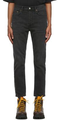 Acne Studios Black Slim Tapered-Fit Jeans