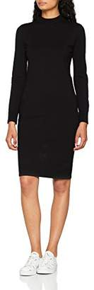 Noisy May Women's Nmcirus L/s Funnel Neck Knit Dress Noos Black, 10 (Size: )