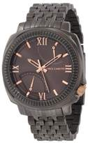 Vince Camuto Men's Quartz Watch with Grey Dial Analogue Display and Grey Stainless Steel Bracelet VC/1002GNDG