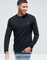 Jack Wills Dunsford Long Sleeved T-shirt In Black