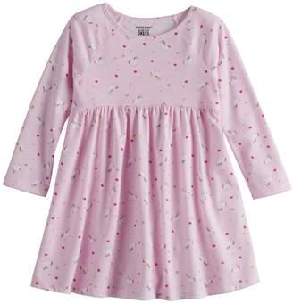 Toddler Girl Jumping Beans Long Sleeve Babydoll Dress