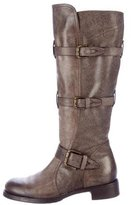 Alberto Fermani Distressed Leather Boots