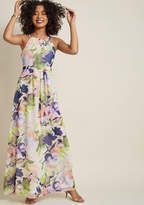 Essence of Presence Chiffon Maxi Dress in 1X - Sleeveless A-line by ModCloth