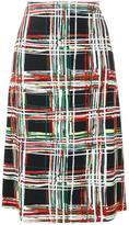 Marni check print skirt