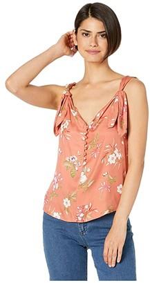 Rebecca Taylor Sleeveless Lita Floral Tank (Sunset) Women's Clothing