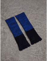 Burberry Wool Cashmere Fingerless Gloves