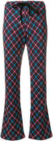 Marni checked flared trousers