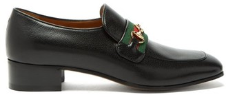 Gucci Aylen Square-toe Leather Loafers - Mens - Black