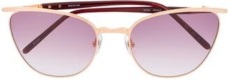 Matsuda Gradient Cat-Eye Frame Sunglasses