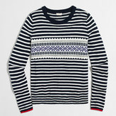 J.Crew Factory Striped Fair Isle sweater