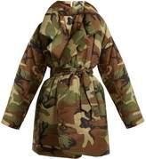 Norma Kamali Camo-print sleeping bag knee-length coat