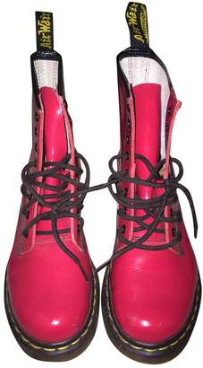 Dr. Martens \N Red Patent leather Boots
