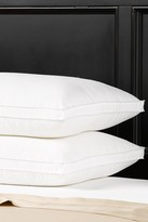 2-Pack 220 Thread Count Gusseted Microfiber Firm Pillow - White