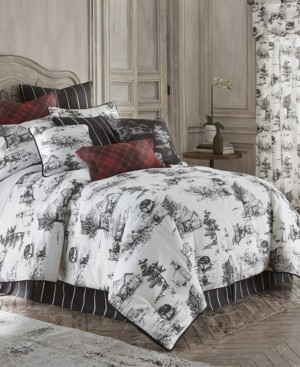 Colcha Linens Toile Back in Black Duvet Cover Set Linen-Queen Bedding