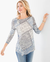 Chico's Textural Floral Top