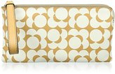 Orla Kiely Printed Pocket Leather Flat Zip Wallet