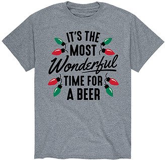 Instant Message Mens Men's Tee Shirts ATHLETIC - Athletic Heather 'Time for Beer' Tee - Men