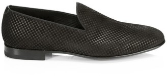 Saks Fifth Avenue COLLECTION BY MAGNANNI Checkered Suede Loafers