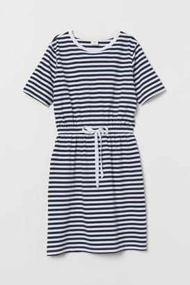 H&M Drawstring T-shirt Dress - Blue
