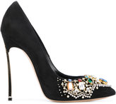 Casadei embellished stiletto pumps