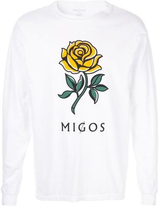 Migos logo print long-sleeve T-shirt
