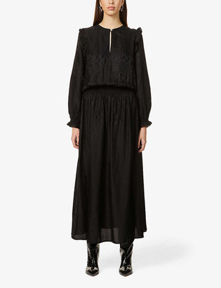 Zadig & Voltaire Roar Jac python-jacquard woven maxi dress