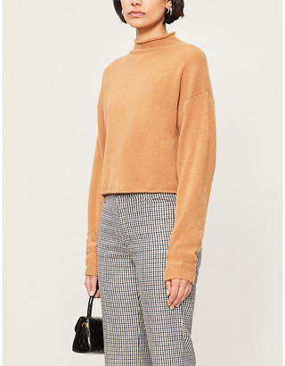 Reformation High-neck recycled cashmere knitted jumper