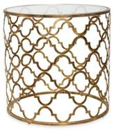 Uttermost End Table in Gold Quatrefoil