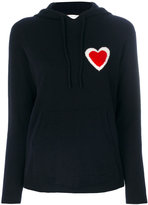 Chinti and Parker cashmere heart burst hoodie