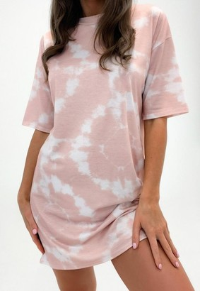 Missguided Stone Tie Dye T Shirt Dress