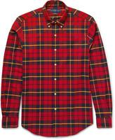 Polo Ralph Lauren - Button-down Collar Checked Stretch-cotton Shirt