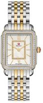 Michele Deco II 16 Diamond, Mother-Of-Pearl, 18K Goldplated & Stainless Steel Bracelet Watch