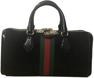 Gucci Ophidia Black Suede Handbags