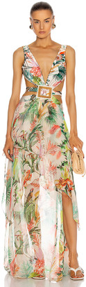 PatBO Oasis Cut-Out Dress in Off-White | FWRD