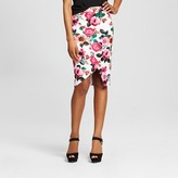 Women's Floral Print Scuba Midi Skirt - XOXO (Juniors')