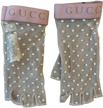 Gucci Beige Silk Gloves