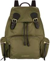 Burberry Large Logo Backpack, Green